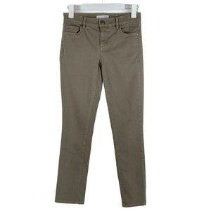 LOFT Skinny Crop Ankle Olive Green Stretch Jean 00